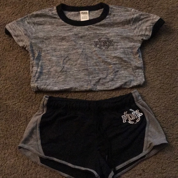 NEW Victoria/'s Secret VS PINK Pink Studded Shortie Yoga Shorts Small, Large